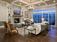 Coffered Ceiling Paint Color. The walls above chair rail