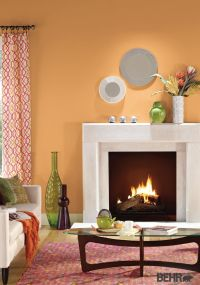 BEHR paint in Cheerful Tangerine makes the base for this ...