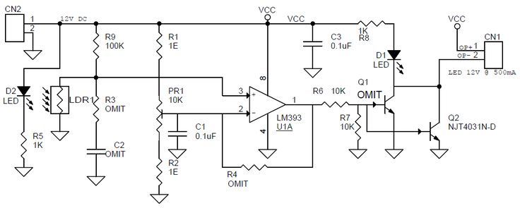 light detector circuit this circuit detects light falling on the photo