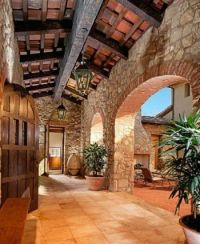 Tuscan Style Loggia-SR | HOMES-STONE HOMES | Pinterest ...