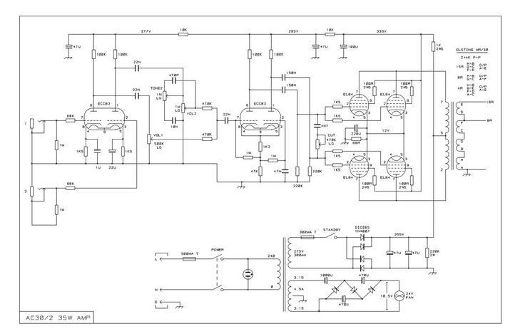 guitar tube amp wiring diagram