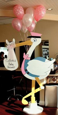10 best images about Stork baby shower decorations on ...