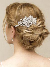 """Robin"" Elegant Rhinestone Flower Bridal Hair Comb | Asian ..."