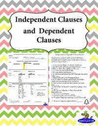 4th Grade  Dependent And Independent Clauses Worksheets ...