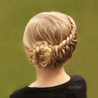 Fake Hair Braids Wrap Around Bun | braided fake hair to go ...