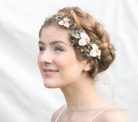 Woodland Wedding Hair Wreath with Vintage Velvet Pansies ...