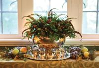 Gorgeous Feather Centerpiece in a Silver Punch Bowl ...