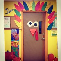 Our Thanksgiving door at school | Preschool Fun ...
