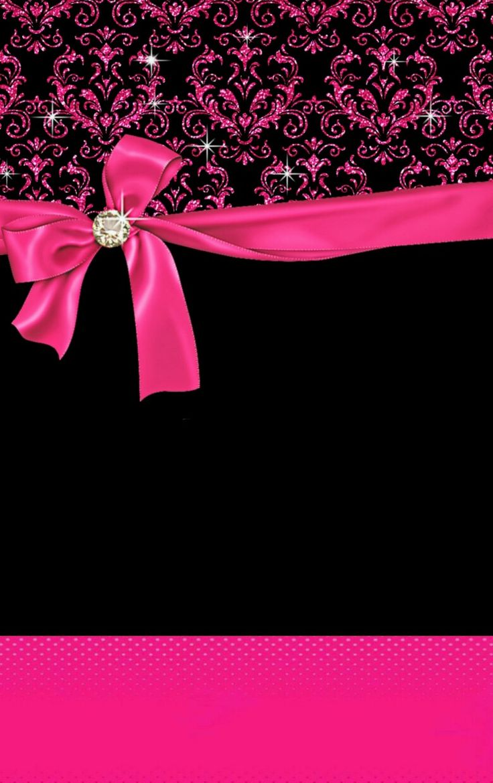 Cute Girly Skull Wallpapers Fond D 233 Cran Pink Black Papel De Parede Pinterest