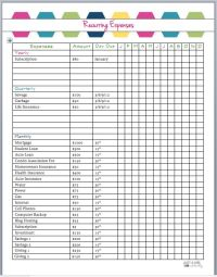 25+ best ideas about Monthly expense sheet on Pinterest ...