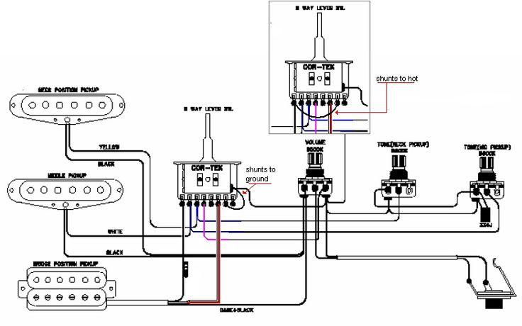 circuit diagram guitar pickups