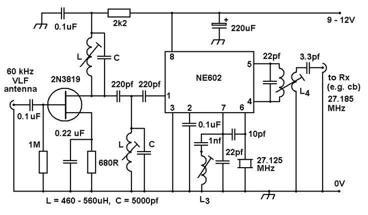 crystal radio schematic selector page