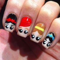 10 Adorable Ideas for Cartoon Nails | Cartoon, Princesses ...