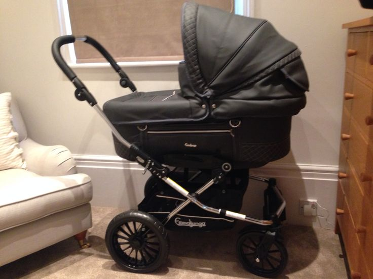 Combi Stroller Pink Emmaljunga In Anthracite Leatherette Ivy 39;s Beautiful Pram