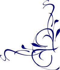 Elegant Swirl Designs Clip Art | Right Floral Swirl clip ...