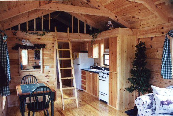 inside pictures of small log cabin