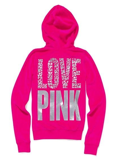 Pullover Hoodie Vs Zip Up Cuute Pink Victoria 39;s Secret Sweatshirt Hoodies