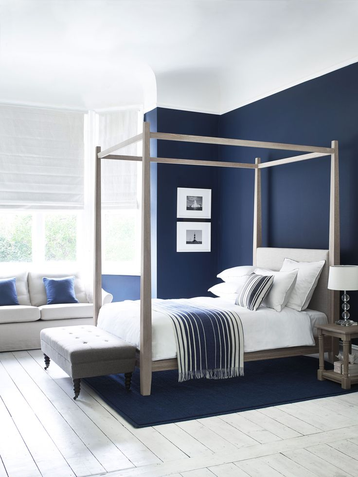 Best 25+ Dark blue bedrooms ideas on Pinterest