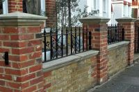 Wall top railing with coping | fences for back yard ...