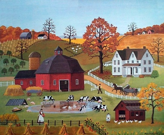 Fall Schoolhouse Wallpaper 1000 Ideas About Naive Art On Pinterest Cottage Art