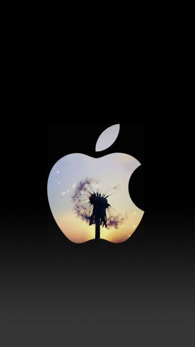 Dandelion Sunset Apple Logo iPhone 6 Lock Screen Wallpaper | ♥ iPhone Wallpaper ♥ | Pinterest ...
