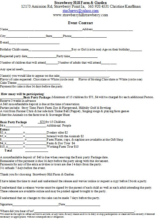 Doc#728942 Sample Event Planner Contract u2013 sample contracts for - event planner contract