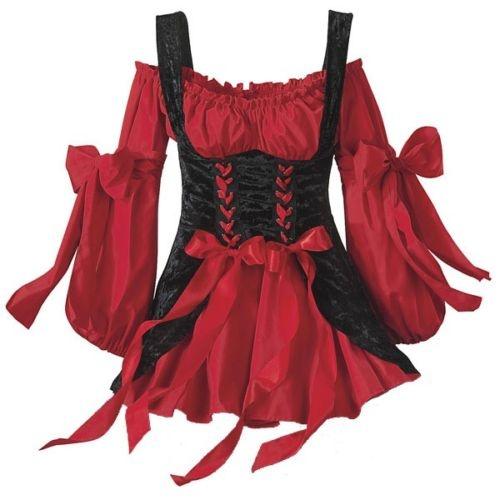 Details About Renaissance Sca Bar Maid Wench Corset Dress