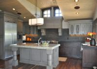Restaining Oak Cabinets Gray  Cabinets Matttroy