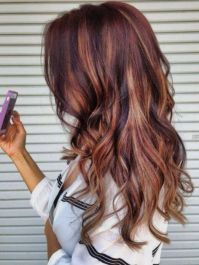 Auburn hair with high and low lights. | All Things Hair ...