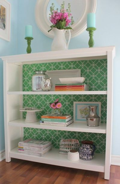 17 Best ideas about Wallpaper Bookshelf on Pinterest | Pop of color, The back and Throw pillow ...