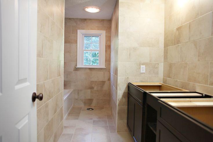 tile the whole bathroom?