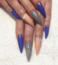 25+ Best Ideas about Blue Stiletto Nails on Pinterest ...