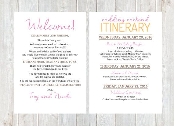 Efast2 Filing Welcome 17 Best Ideas About Wedding Weekend Itinerary On Pinterest