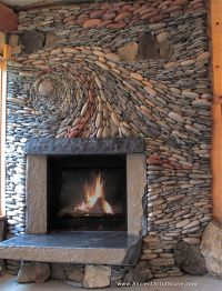 Epiphany, a natural stone fireplace. | Unique Fireplaces ...
