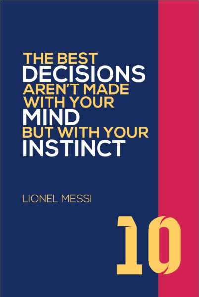 Big Size Wallpapers With Quotes Lionel Messi 10 Fc Barcelona Inspirational Instinct Quote