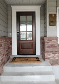 Best 25+ Exterior door trim ideas on Pinterest | Red front ...