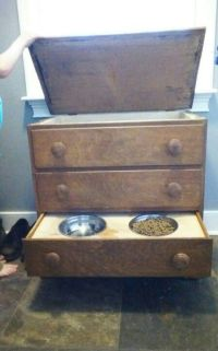 Homemade dog food holder & feeder. | puppy | Pinterest ...