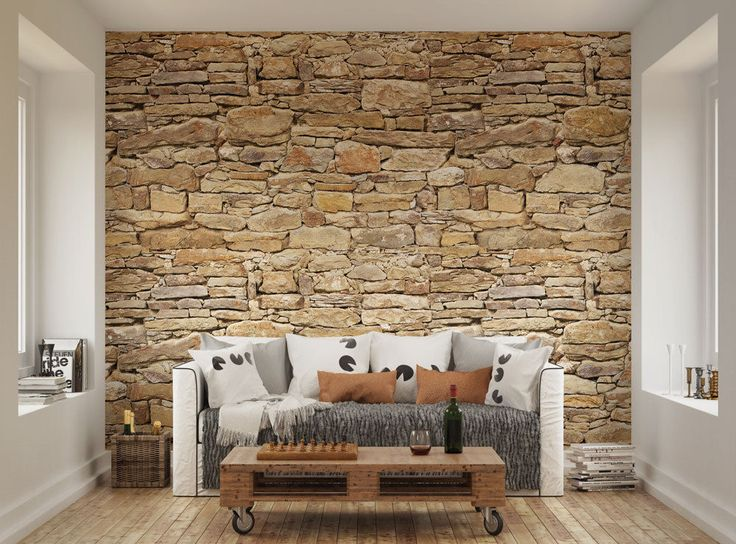 3d Wallpaper For Bedroom Stone Details About Ohpopsi Dry Stone Wall Rustic Wall Mural