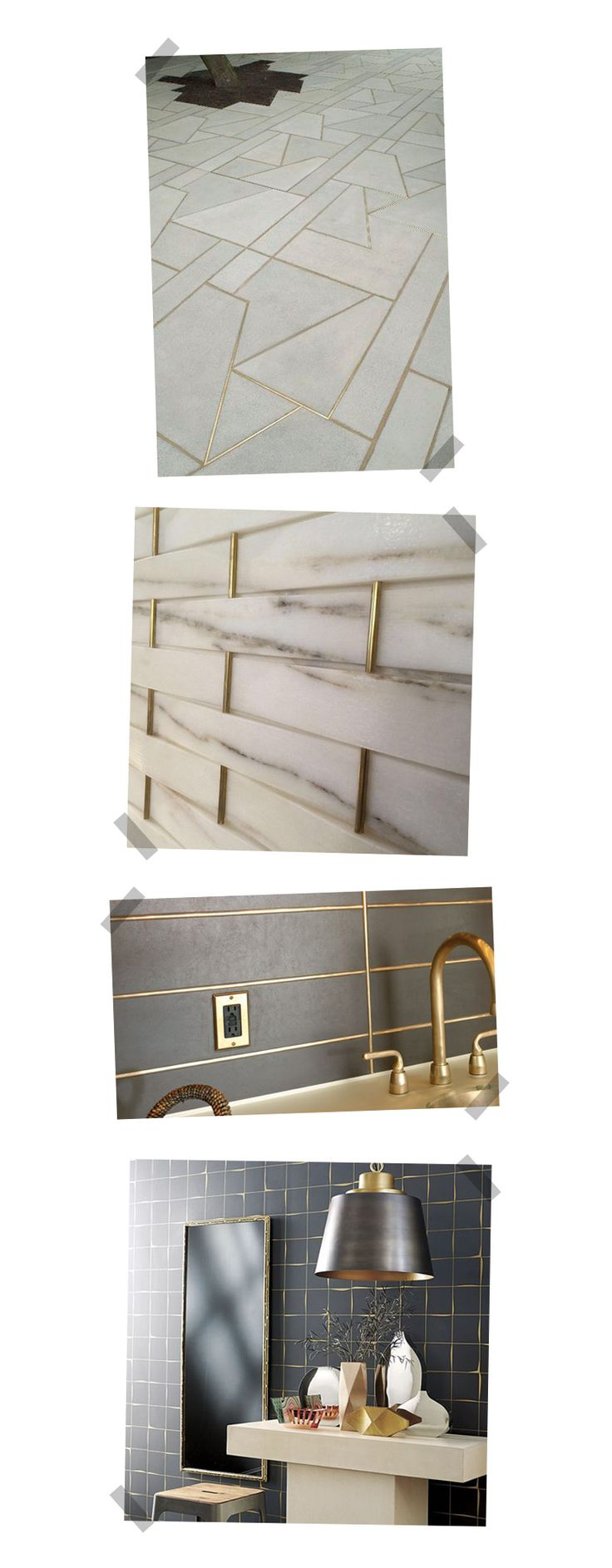 Change Color Of Kitchen Floor Tile 5 Home Decor Trends: Gold Grout | On The Blog. | Pinterest
