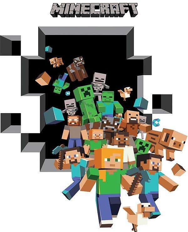 Minecraft Wallpaper 3d Herobrine Minecraft Wall Decals Google Search Minecraft