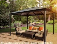 Outdoor Hardtop Gazebo 10'x13' Pergola Kits Patio Grilling ...
