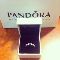 My boyfriend andrew got me a new pandora 'promise' ring ...