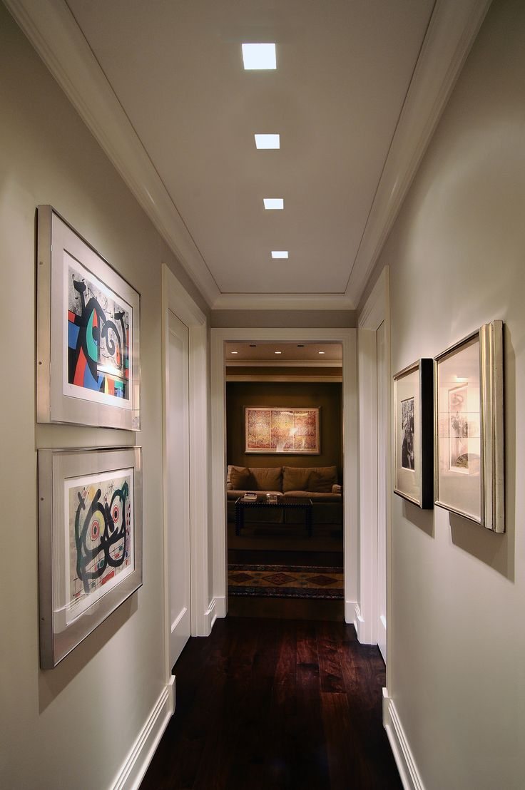 Lighting Idea For Hallway Plaster In Recessed Lighting