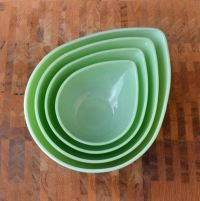 Jadeite Swedish Modern Bowl Set - Jadite Fire King ...