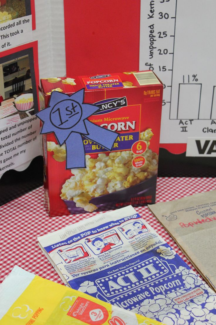 popcorn science fair projects