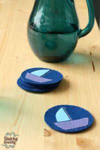 Best 25+ Felt coasters ideas on Pinterest | Wool felt ...