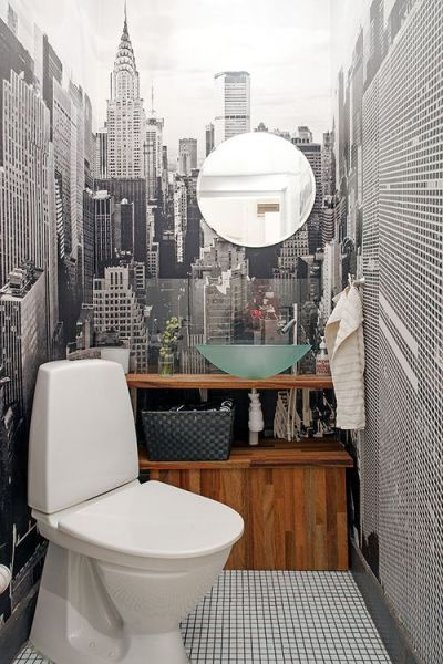 17 Best ideas about Small Bathroom Wallpaper on Pinterest | Half bathroom wallpaper, Bathroom ...