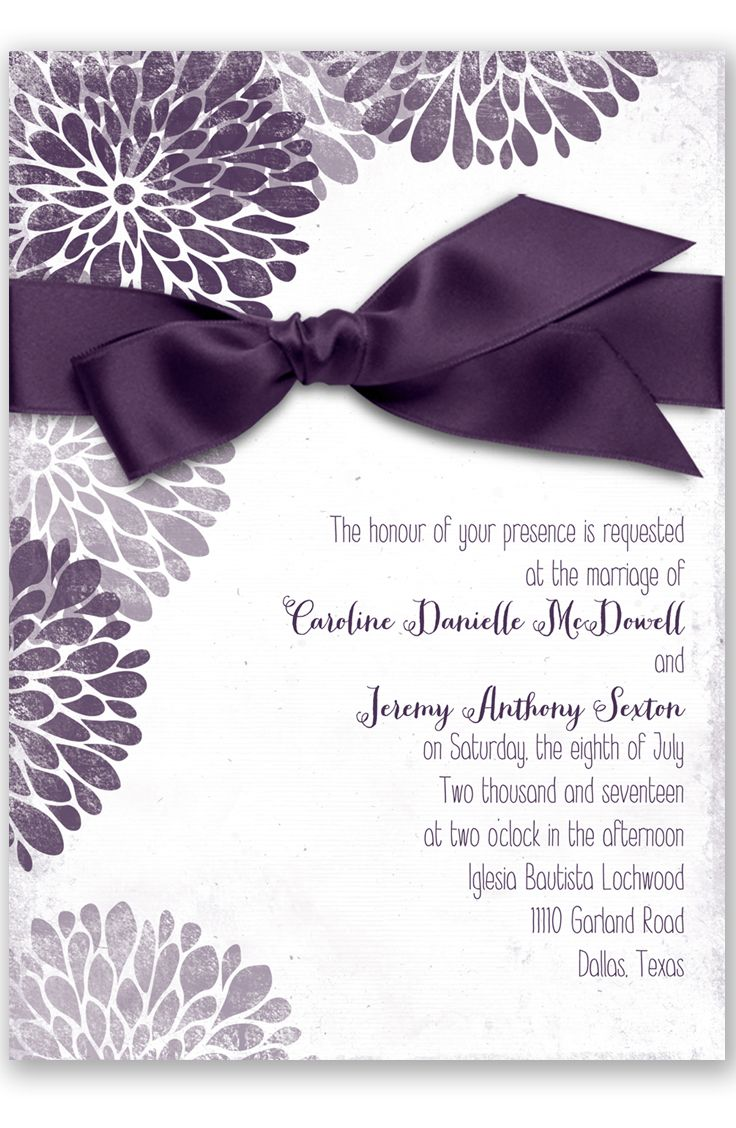 plum wedding invitations wedding invitations with pictures Burst of Colorful Love Wedding Invitation in Plum by David s Bridal