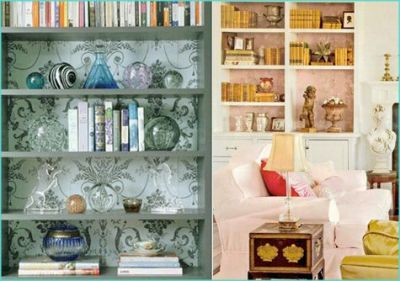 1000+ ideas about Wallpaper Bookshelf on Pinterest | Fireplaces For Sale, Neutral Wallpaper and ...