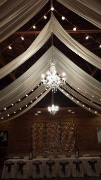 chandeliers in the barn. | Rustic Barn Wedding Ideas ...